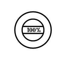 100% stamp Photographic Print