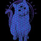Trippy Cat: Blue Flower of life Edition by Jonah Block