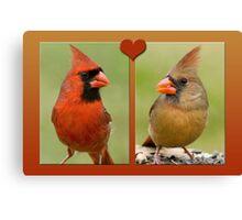 Mr. and Mrs. Cardinal Canvas Print
