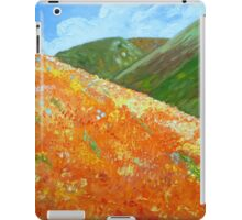 California Poppy Field, impressionism, palette knife painting iPad Case/Skin