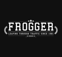 Frogger - Retro White Clean by garudoh