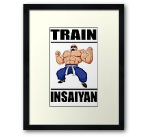 Master Roshi Train Insaiyan Framed Print