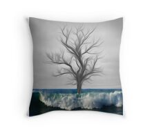 "Global warming series ""The last tree""  Throw Pillow"