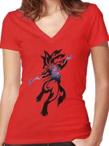 Alpha Dog Women's Fitted V-Neck T-Shirt