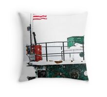 ~ Through Snow, Ice, Winds and Bitter Cold, Old Glory Waves ~ Throw Pillow