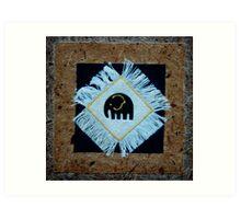 Texure Elephant Art Print