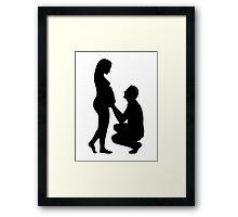 Pregnant woman couple Framed Print