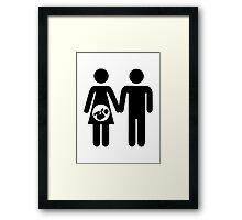 Couple pregnant baby Framed Print