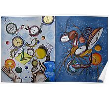 Space and Time Series Painting #1 and Painting #2 Poster
