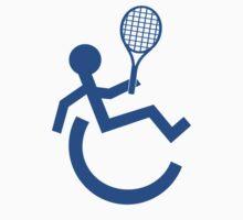 Wheelchair Tennis Logo  by movieshirtguy