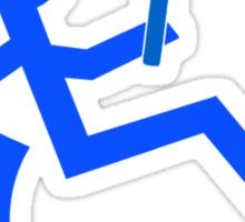 Wheelchair Tennis Logo  Sticker