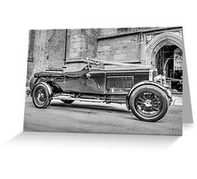 Black and White Car Greeting Card
