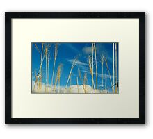 Wheat In The Sky Framed Print