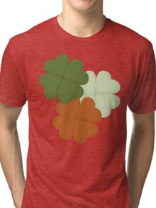 Retro Four leaf Clover  Tri-blend T-Shirt