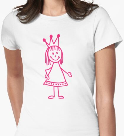 Pink princess girl Womens Fitted T-Shirt