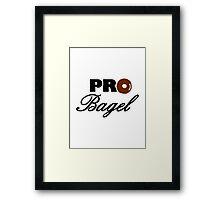 Pro Bagel Framed Print