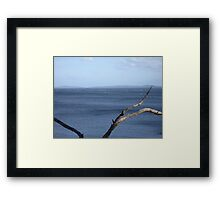 Squally wind over Eggs and Bacon Bay Framed Print