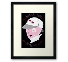 Medical Coder, Detective at Work (white/lightpink) Framed Print