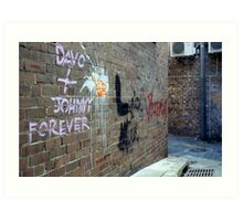 Davo and Johnny Forever Art Print