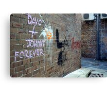 Davo and Johnny Forever Canvas Print