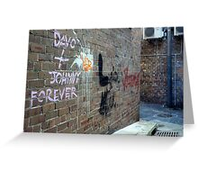 Davo and Johnny Forever Greeting Card