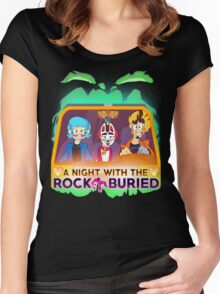 A Night With the Rock Buried Women's Fitted Scoop T-Shirt