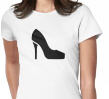 Black pumps Womens Fitted T-Shirt