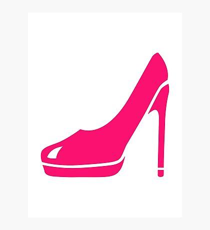 Pink pumps Photographic Print