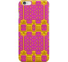 Pink and Gold Baroque Pattern, Unique Design. iPhone Case/Skin
