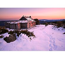 Winter Sunrise over Craig's Hut, Mt Stirling, Australia Photographic Print