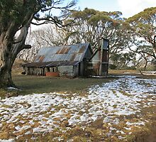 Wallace Hut, Falls Creek, Australia by Michael Boniwell