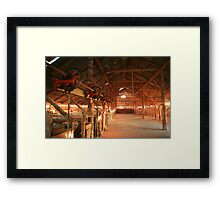 Dawn penetrates a Shearing Shed, Mungo National Park, Australia Framed Print