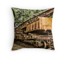 Steam Era of Logging Throw Pillow