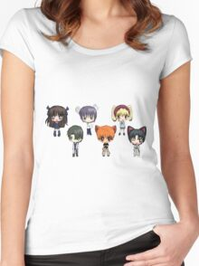 Fruits Basket Chibi Anime Women's Fitted Scoop T-Shirt