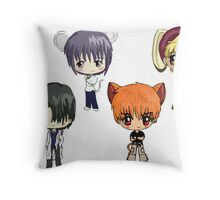 Fruits Basket Chibi Anime Throw Pillow