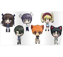 Fruits Basket Chibi Anime Poster