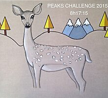 Deer three peaks by Gay Henderson