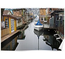 Houseboat Alley Poster