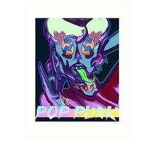 Pop Punk Alien  Art Print