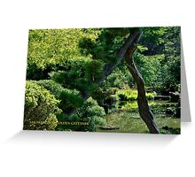 GOLDEN GATE PARK STREAM (CARD) Greeting Card