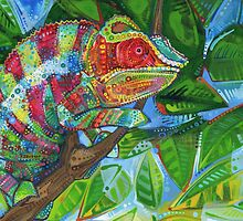 Panther chameleon by Gwenn Seemel