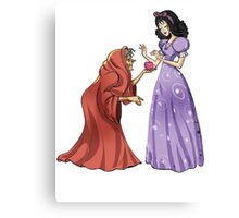 Snow White Poisoned Apple Witch Canvas Print
