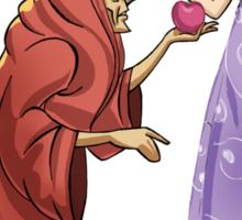Snow White Poisoned Apple Witch Sticker
