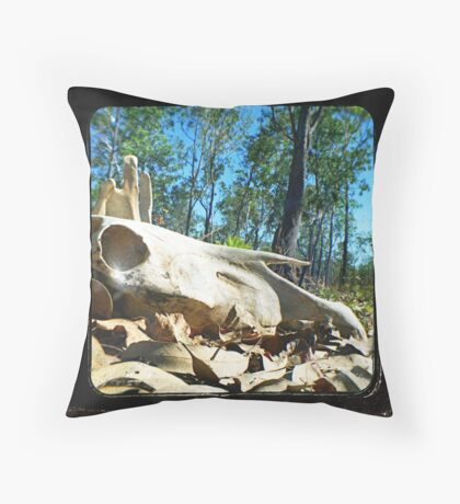 Them Bones Throw Pillow