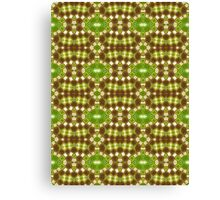 Brown, Green and Gold Abstract Design Pattern Canvas Print