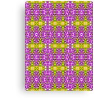 Purple, Yellow and Green Abstract Design Pattern Canvas Print