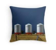 Grain Silos on Wilber Throw Pillow