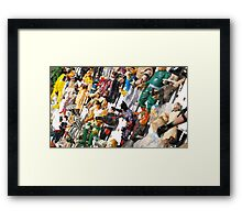 All the Superheros are Tied up  Framed Print