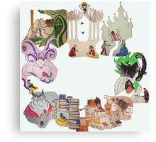 Princess Circle Canvas Print