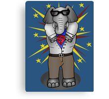super elephant Canvas Print